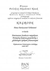 Nagroda Prezesa PAN